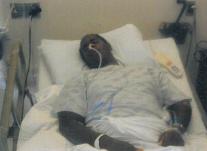 Gabe in hospital