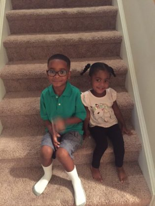 My little ones on the first day of school.