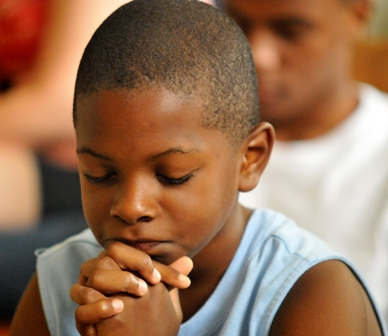 Boy praying